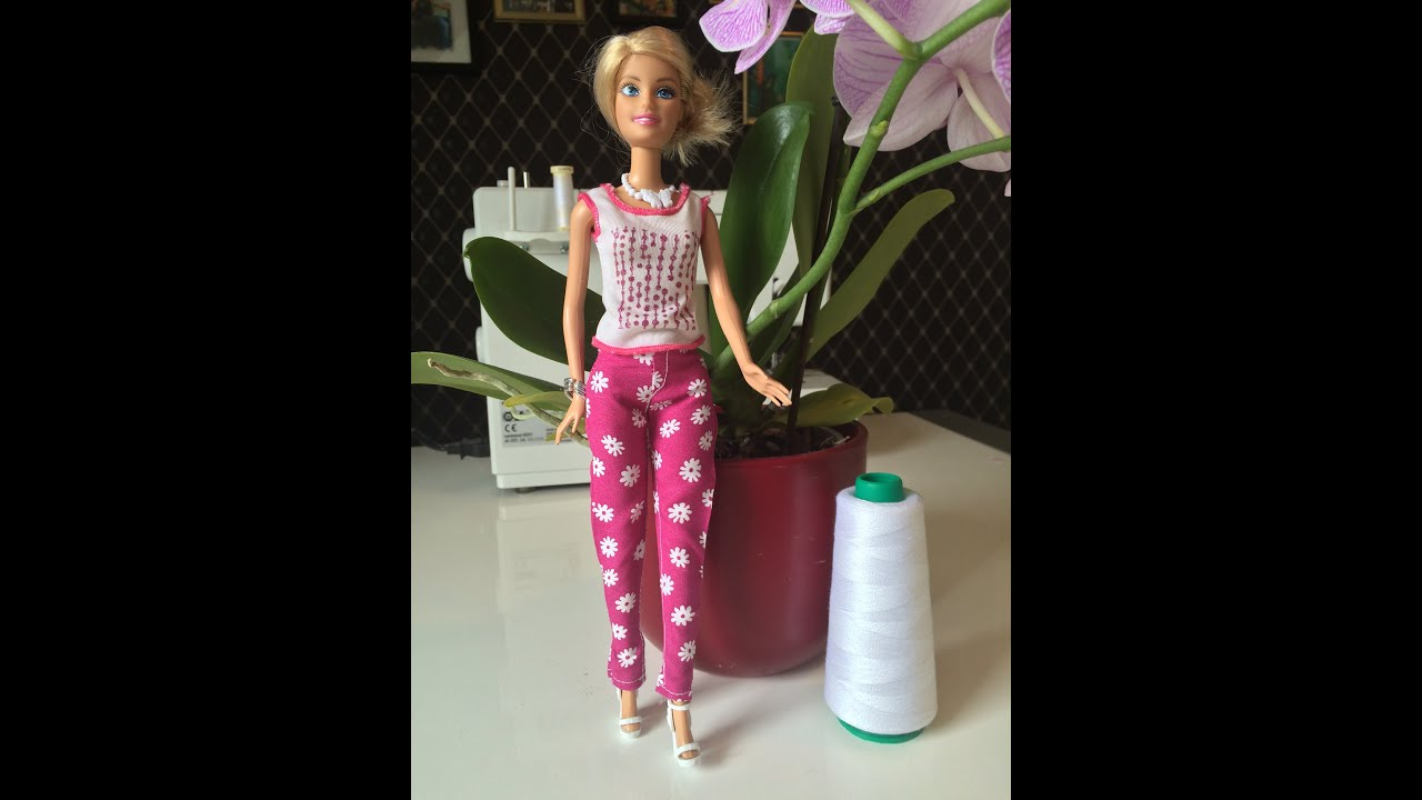 Barbie-Hose nähen - YouTube