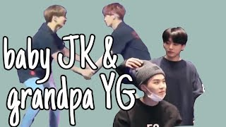 yoongi letting jungkook annoy him for 5 min straight | grandpa-grandson