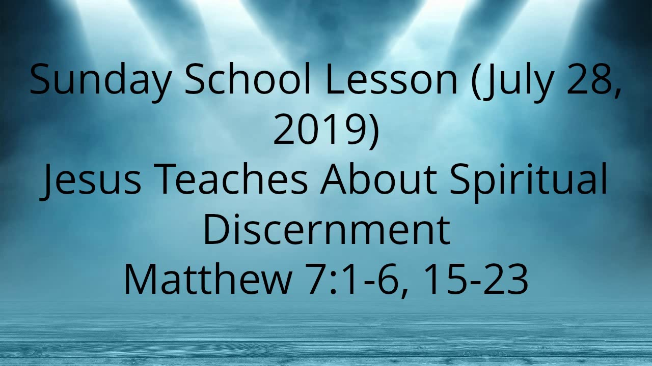 Sunday School Lesson – Sunday School Preacher