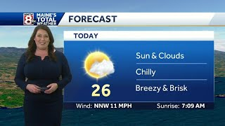 Bright and chilly to start the week, milder second half