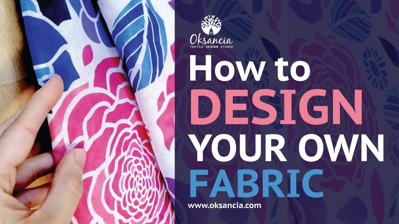 How To Design Your Own Fabric Step By Step Fabric Design Tutorial With Final Fabric Example Youtube