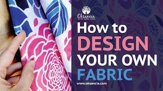 How To Design Your Own Fabric. Step By Step Fabric Design Tutorial With Final Fabric Example.