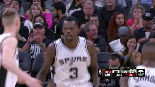Spurs Pull Away With 33-13 Fourth Quarter In Game 2   May 3, 2017