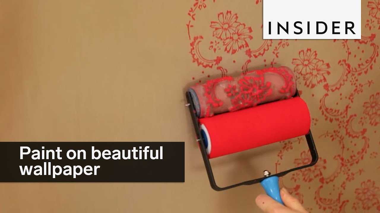 This Patterned Roller Lets You Paint On Beautiful Designs Youtube