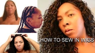 How To: Full Lace Wig SEW IN Application (Start To Finish)