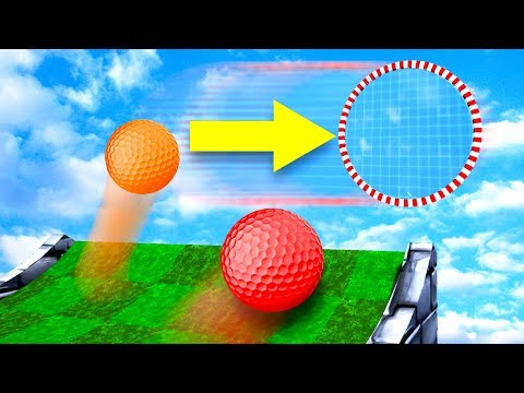 Impossible MOVING Hole In One Trickshot! - Golf It