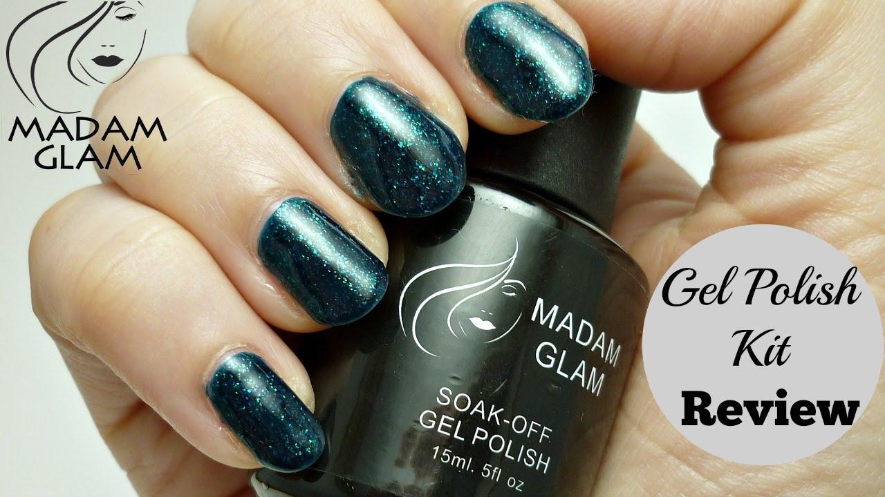 Diy Shellac Gel Nails At Home Madamglam Gel Polish Kit Review Youtube