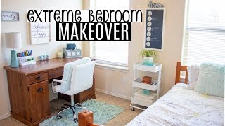 EXTREME BEDROOM MAKEOVER 2019   CLEAN WITH ME   OFFICE / GUEST ROOM