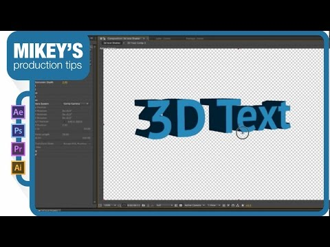After Effects 3D Text Tutorial Including 3D Text With Shatter And Ray Traced