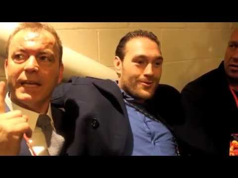 TYSON FURY'S TRIBUTE TO THE LATE 'KING OF THE GYPSIES' BARTLEY GORMAN (WITH BARTLEYS DAUGHTER)