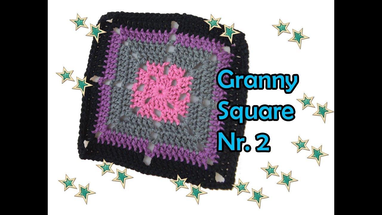 Granny Square Nr. 2 häkeln - DIY Häkelanleitung - YouTube