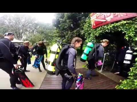 Girls Scuba Diving Devils Den #1
