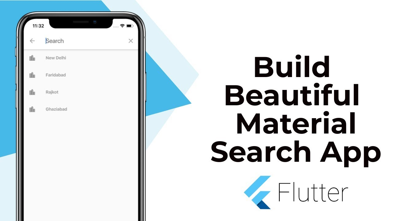 Flutter Advanced : Build Beautiful Material Search App or Integrate it with  Any App