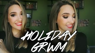 Holiday Christmas Makeup Tutorial 2016! Chatty Holiday GRWM!