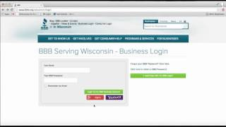 BBB Accredited Business Member Log-in