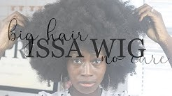 ISSA WIG #2: UNBOXING MY BIG HAIR NO CARE LACE FRONT AFRO. NO GLUE OR SEWIN