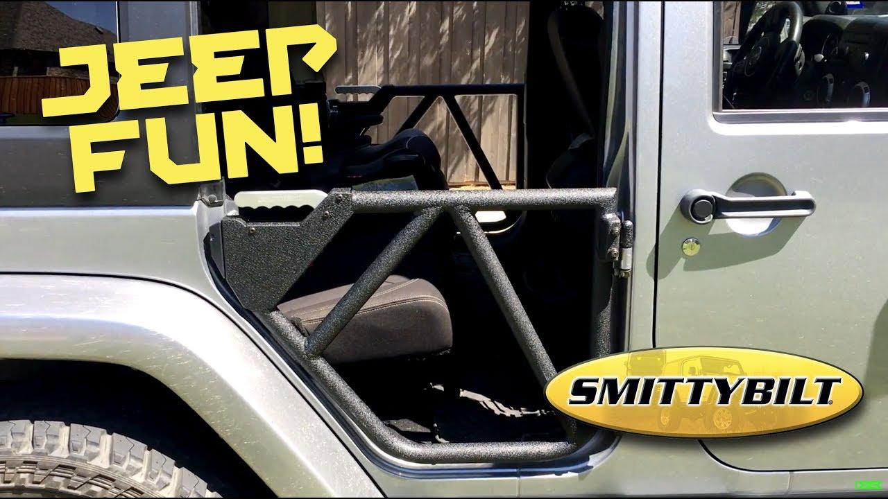 smittybilt gen 2 src tube doors jeep wrangler [ 1280 x 720 Pixel ]