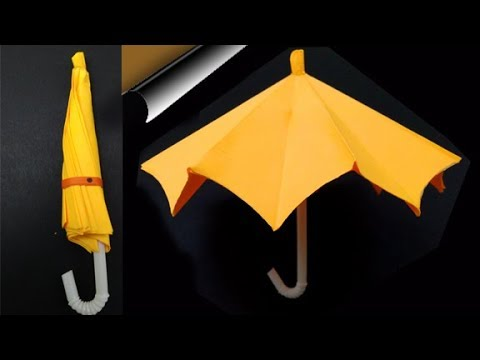 How To Make Easy Paper Umbrella That Open And Close | Very Easy Paper Craft | Guggu Kids