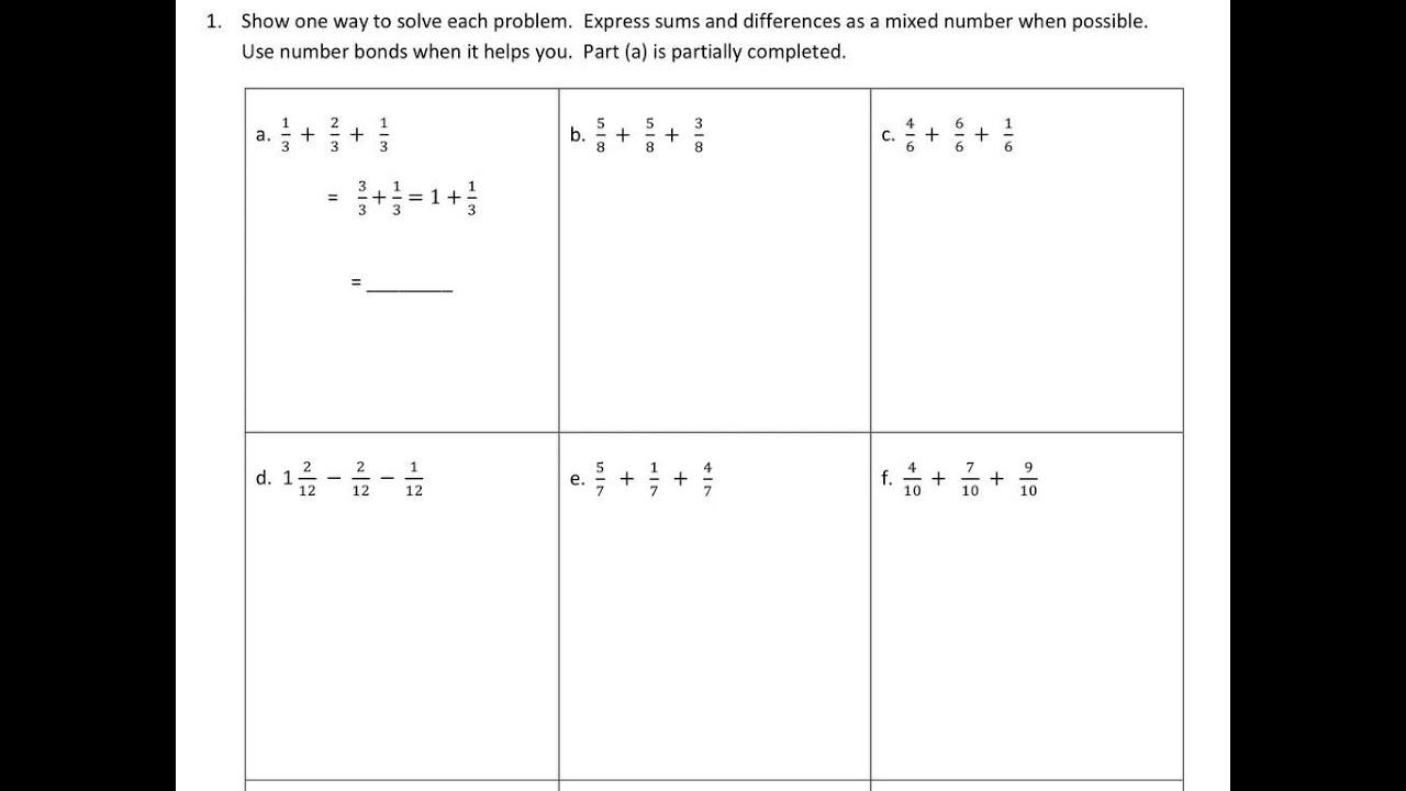 Lesson 18 homework eureka math