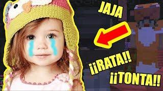 😂ME HAGO PASAR POR NIÑA DE 10 AÑOS EN MINECRAFT #2 *me matan*😂