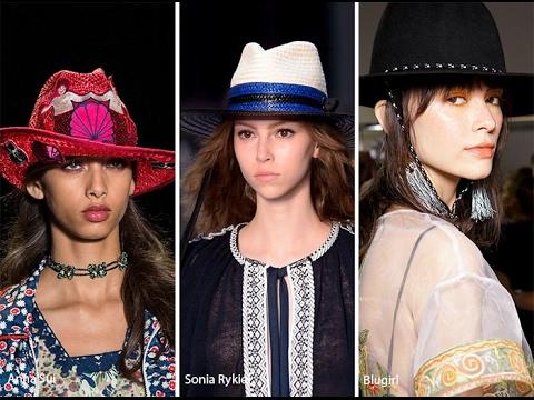 Модные женские головные уборы Весна - Осень 2017 года