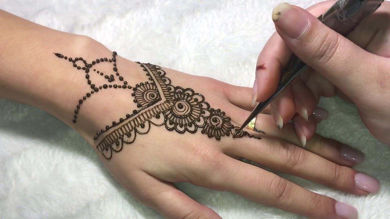 Dessin Pour Henné 03. comment réaliser un modèle simple au henné naturel - youtube