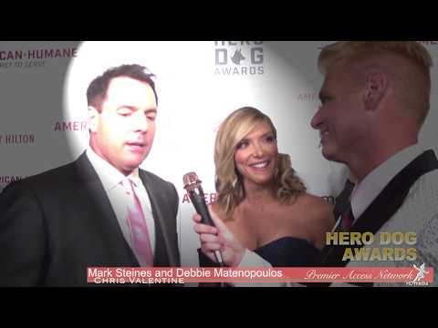 Mark Steines & Debbie Matenopoulos wChris Valentine  Hero Dog Awards