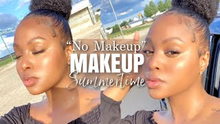 My 'No Makeup' Makeup Look   Glowy Flawless Skin Tips + NO Foundation   Easy Summer Look