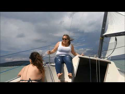 Maxi 77   Sailing on windy Balaton, Hungary