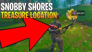 FORTNITE SNOBBY SHORES FOLLOW THE TREASURE MAP LOCATION! WEEK 3 CHALLENGE ULTIMATE GUIDE!
