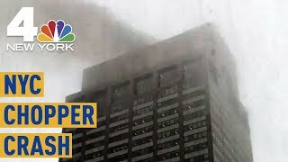Image result for NYC Helicopter Crash: 1 Dead After Aircraft Makes Hard Landing in Midtown