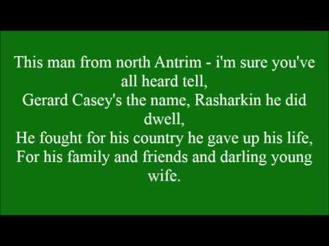 The Ballad Of Gerard Casey with lyrics