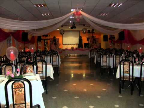 Decoracion de salones para fiestas y eventos youtube - Adornos para salon ...