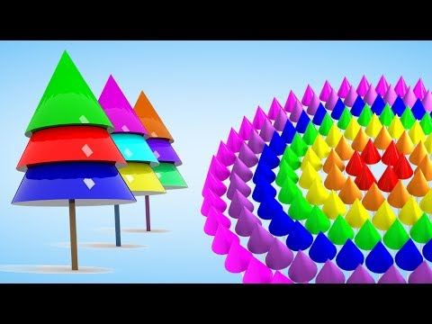 Learn Colors Shapes for Toddlers | Learn 3D Shapes for children Kindergarten Nursery Rhymes for Kids
