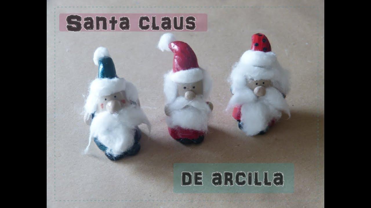 Manualidades Navidenas Con Arcilla.Figuras De Navidad Con Arcilla Y Pasta De Sal Manualidades