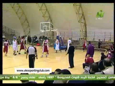نهائى كاس مصر لكرة السله بين سبورتنج والاهلى 2013