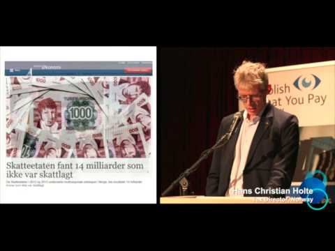 """The Industry of Tax Avoidance"", presentation by Hans Christian Holte, Tax Director"