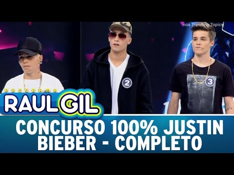 Programa Raul Gil (24/09/16) - Concurso 100% Justin Bieber - Completo