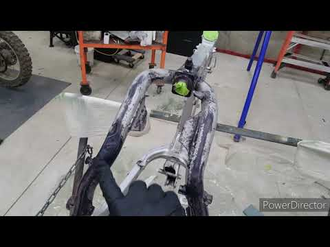 How To Prep Your Dirt Bike Frame For Rust Converter And Paint