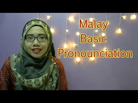 [LEARN MALAY] 02-Basic Pronunciation