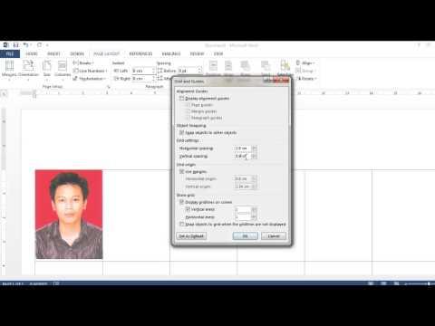Cara Membuat Pas Photo 3X4 dengan Ms Word
