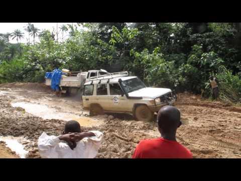 Main road to Kailahun, Sierra Leone