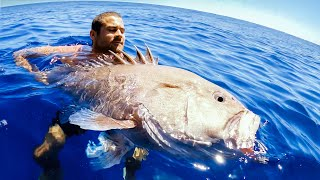 GIANT GROUPER DEEP SEA FISHING Giving Fish Away During Food Shortage - Ep 177