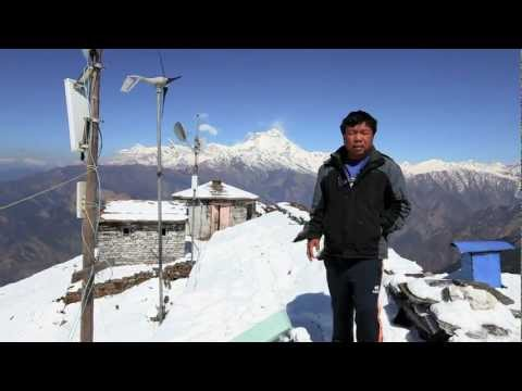 Mahabir Pun and the Nepal Wireless Relay Station at Khopra R
