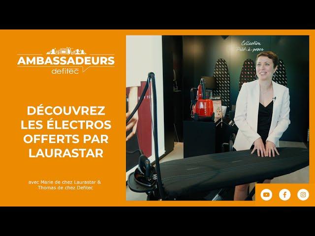 Le système de repassage haut de gamme #LAURASTAR que recevront les Ambassadeurs DEFITEC