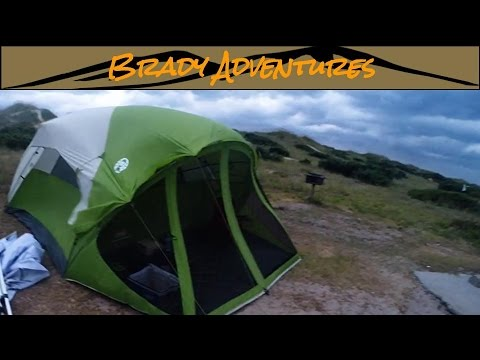 Part 2 Field Test Coleman Evanston 6 Screened Porch Tent & Part 2 Field Test: Coleman Evanston 6 Screened Porch Tent - YouTube