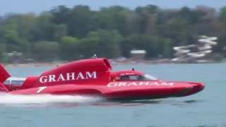 2016 Detroit Hydrofest Gold Cup Final Round - See the 150+ mph Speed