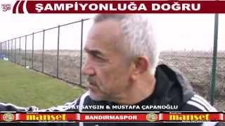 Mustafa ÇAPANOĞLU  Bandırmaspor Teknik direktörü