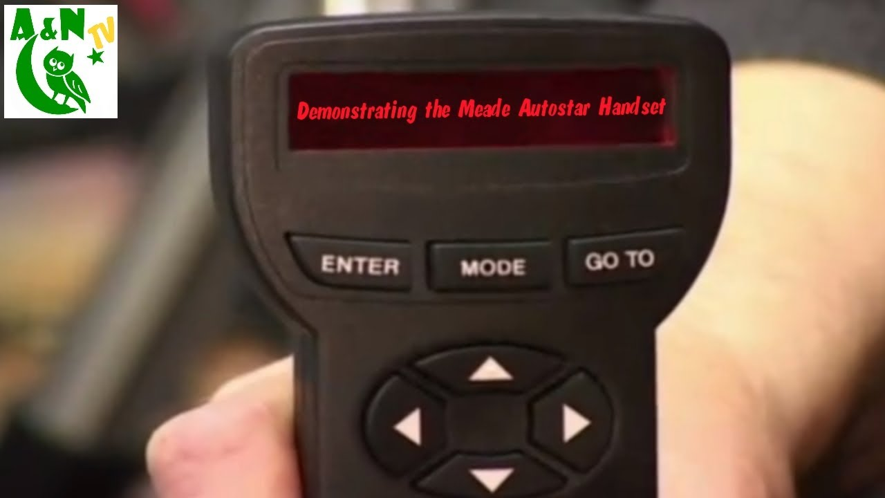 medium resolution of demonstrating the meade autostar handset youtubeautostar to usb wiring diagram 9