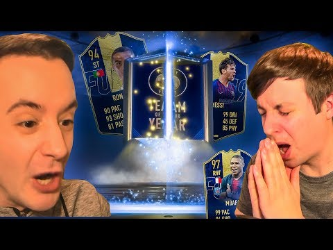 OMFG I DIDN'T PACK TOTY RONALDO!!! - FIFA 19 ULTIMATE TEAM OF THE YEAR PACK OPENING thumbnail